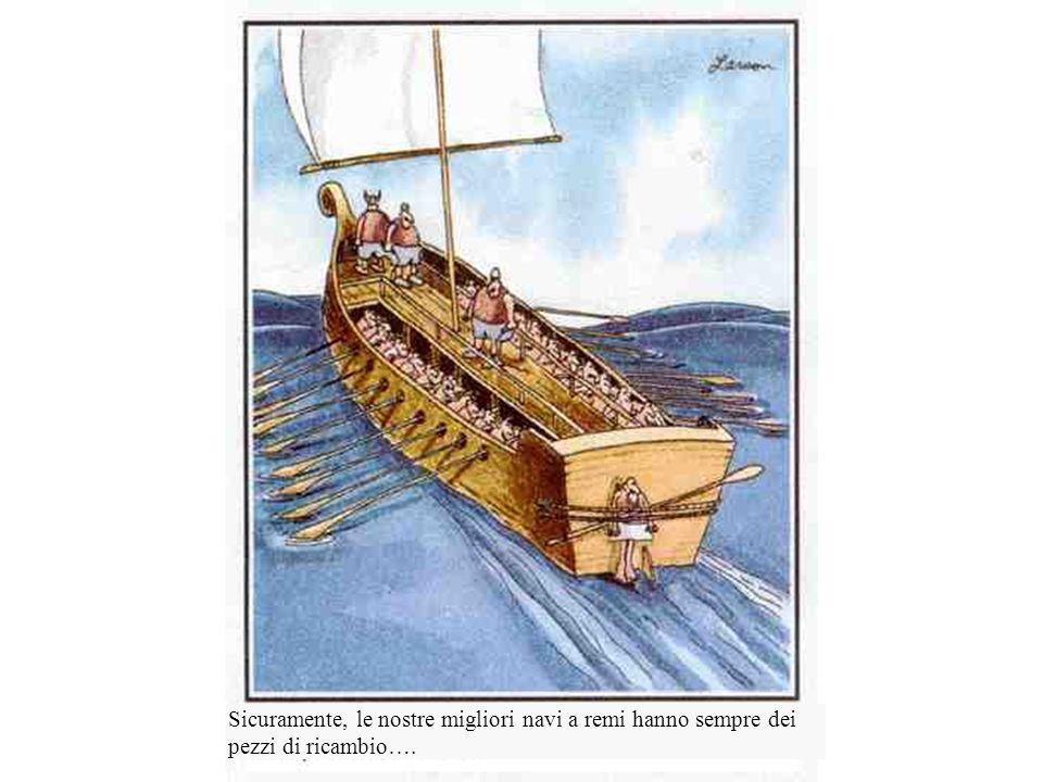 Sicuramente, le nostre migliori navi a remi hanno sempre dei pezzi di ricambio….