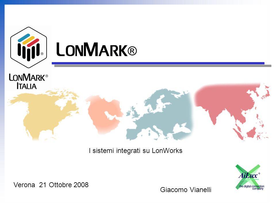 Italia ® I sistemi integrati su LonWorks Giacomo Vianelli Verona 21 Ottobre 2008