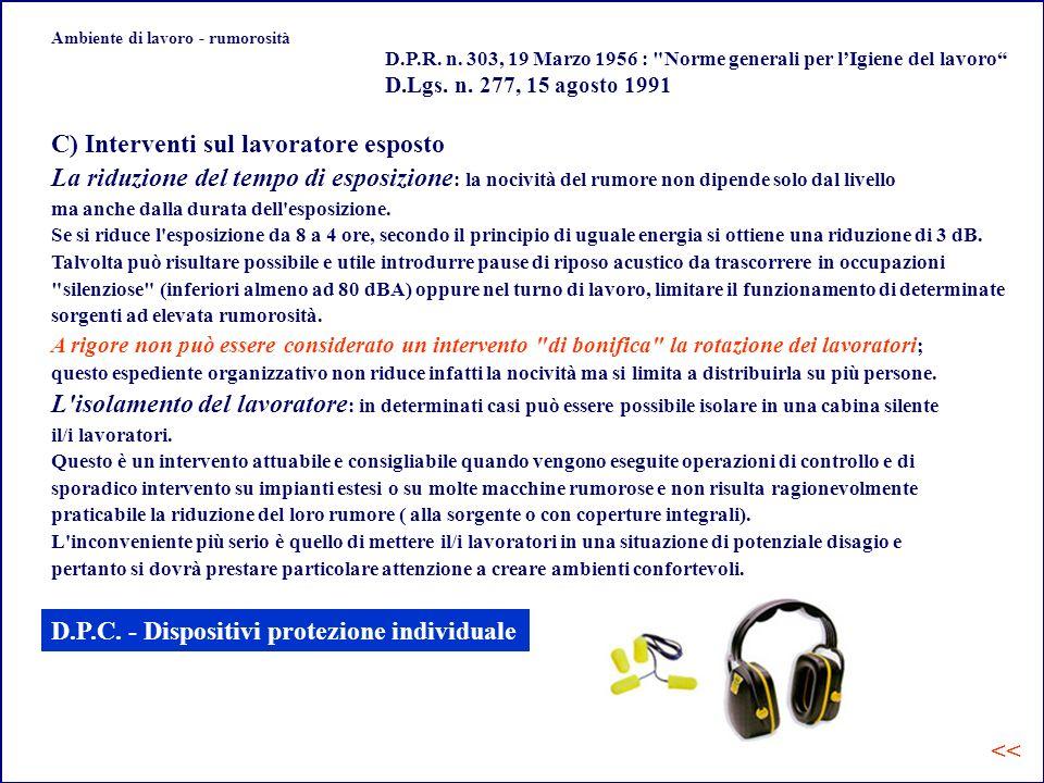 Ambiente di lavoro - rumorosità D.P.R.n.