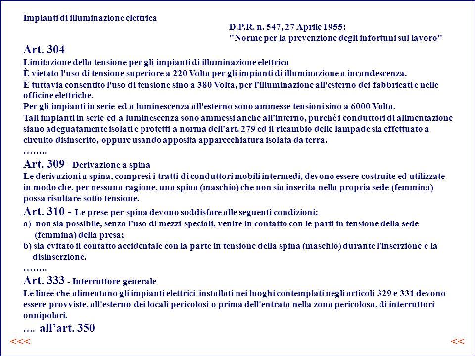 Impianti di illuminazione elettrica D.P.R.n.