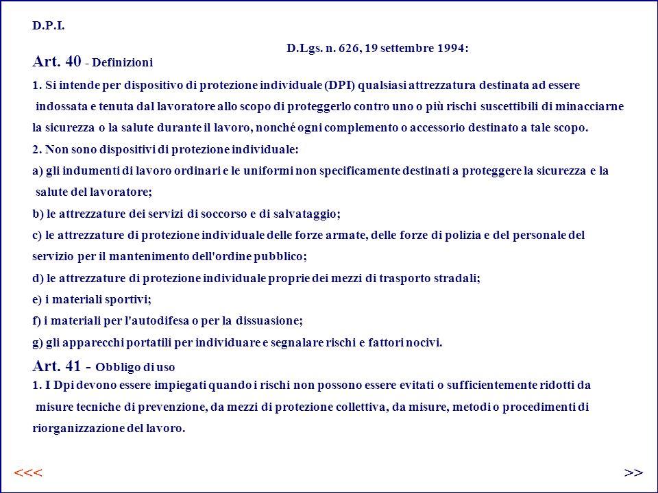 D.P.I.Art. 40 - Definizioni 1.