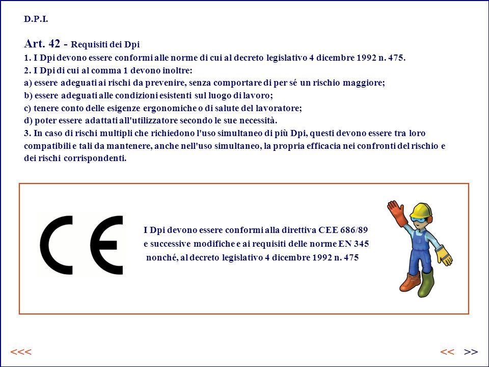 D.P.I.Art. 42 - Requisiti dei Dpi 1.