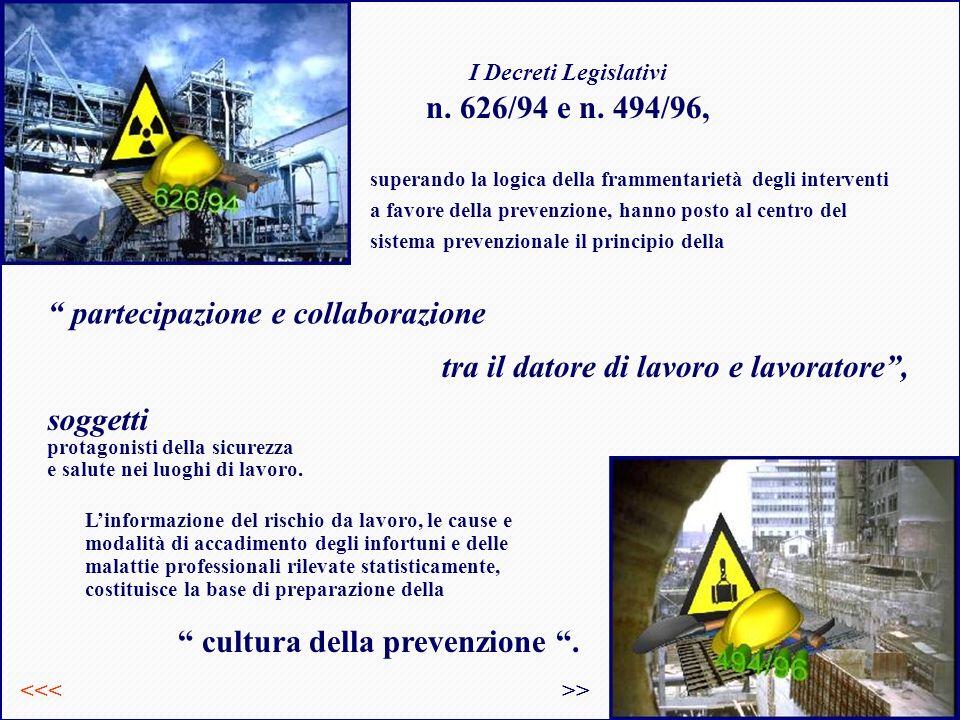 I Decreti Legislativi n.626/94 e n.