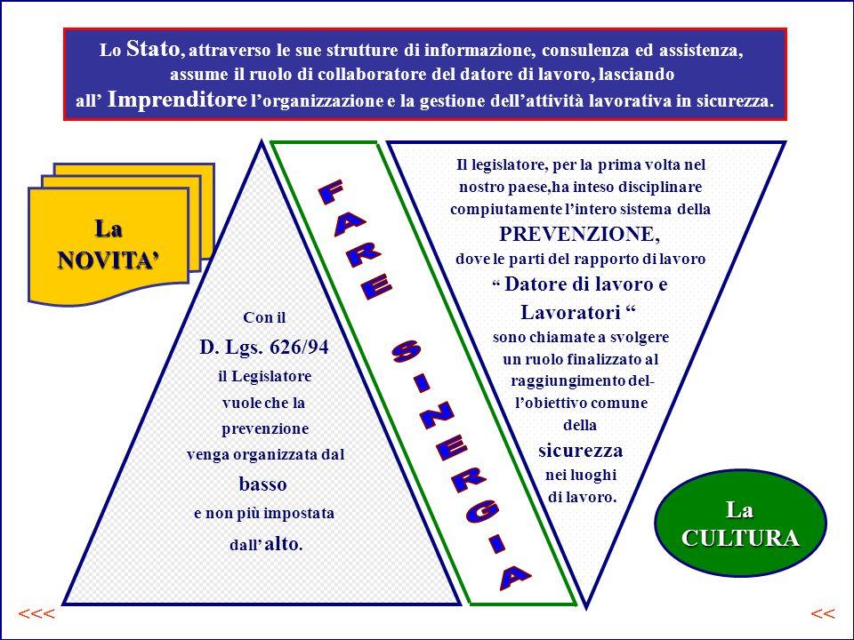 La CULTURA LaNOVITA Con il D.Lgs.