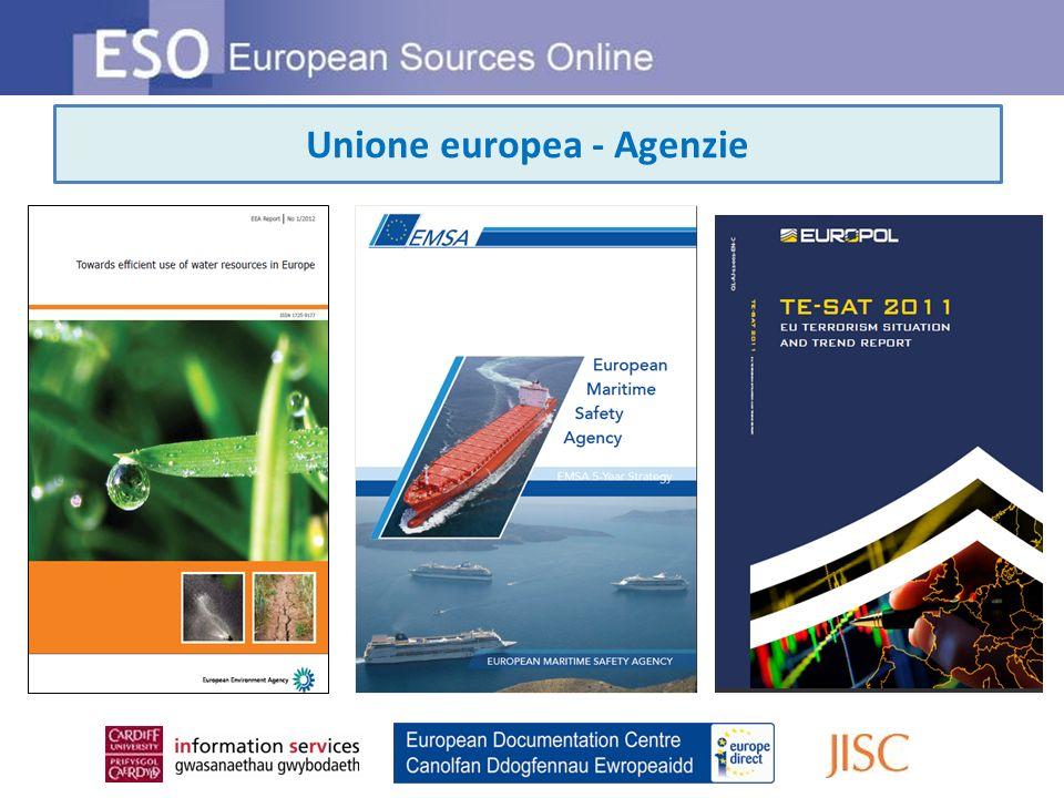 Unione europea - Agenzie