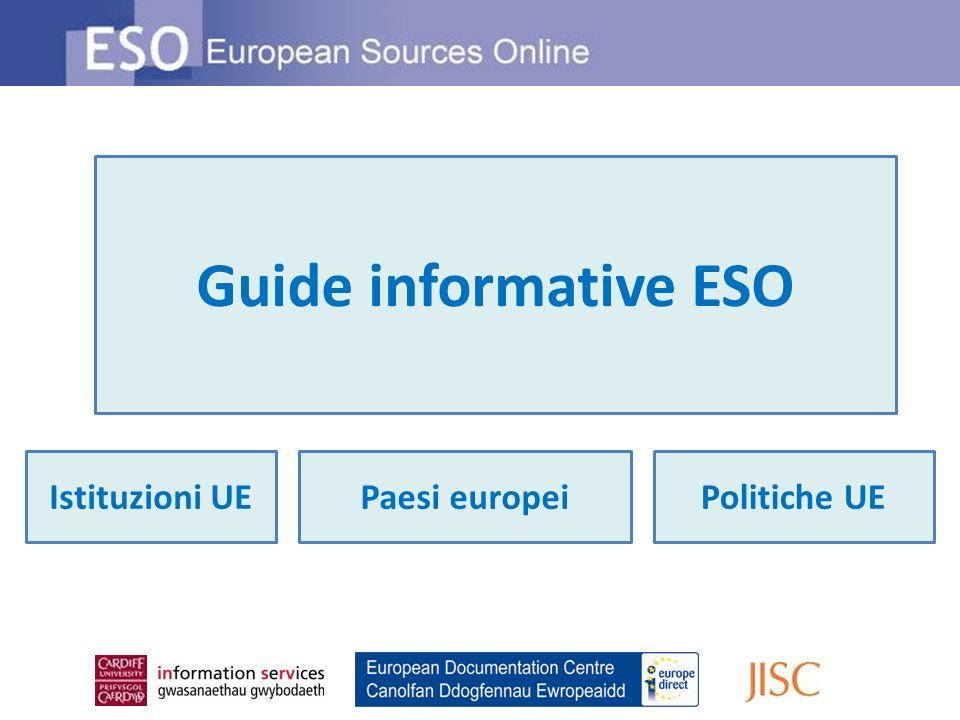 Guide informative ESO Istituzioni UEPolitiche UEPaesi europei