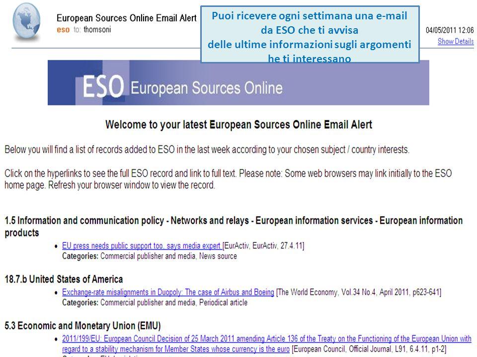 Puoi ricevere ogni settimana una e-mail da ESO che ti avvisa delle ultime informazioni sugli argomenti he ti interessano