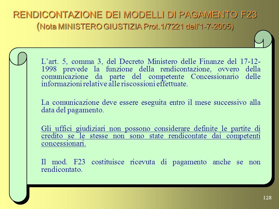 127 REISCRIZIONE A RUOLO (Art.