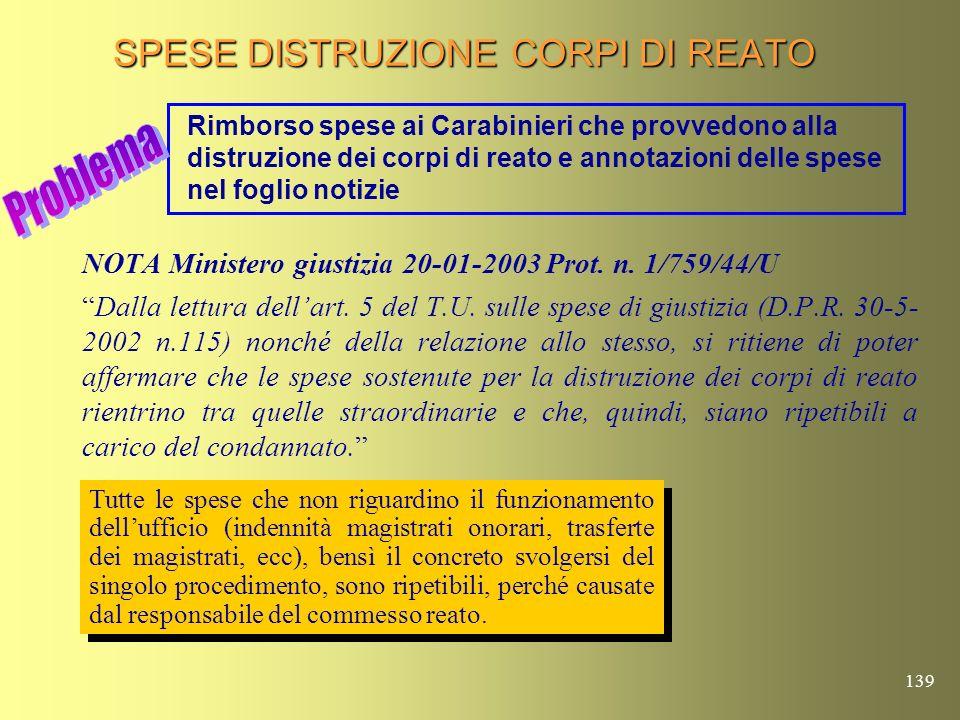 138 GESTIONE DEI RUOLI INFORMATICI ( Nota Ministero giustizia prot.
