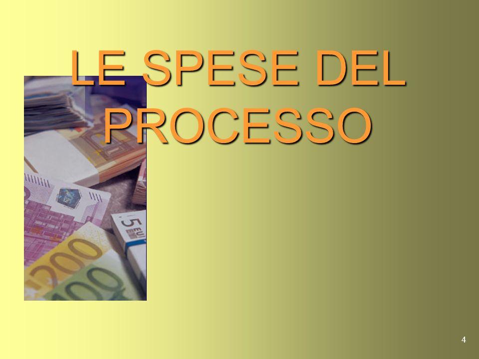 4 LE SPESE DEL PROCESSO