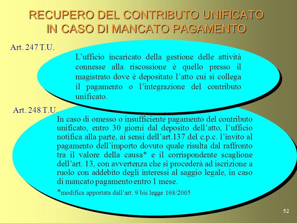 51 ATTIVITA DELLA RISCOSSIONE Tali somme non sono presenti nel foglio notizie trasmesso dalla Procura.