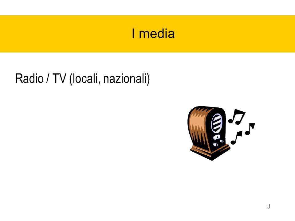 8 I media Radio / TV (locali, nazionali)