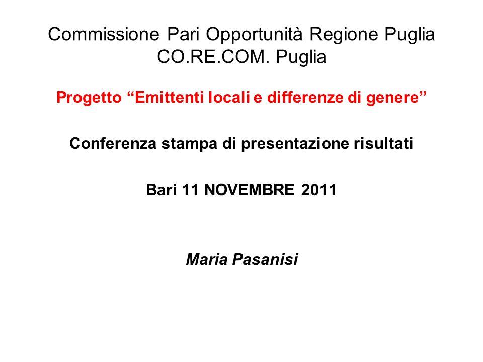 Commissione Pari Opportunità Regione Puglia CO.RE.COM.