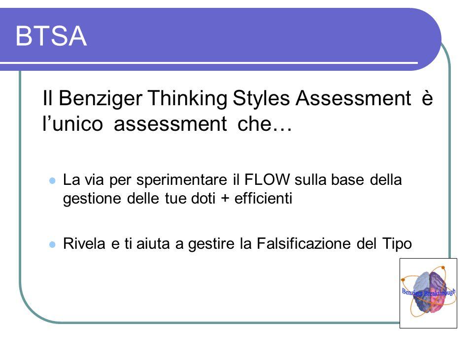 BTSA Il Benziger Thinking Styles Assessment è lunico assessment che… La via per sperimentare il FLOW sulla base della gestione delle tue doti + effici