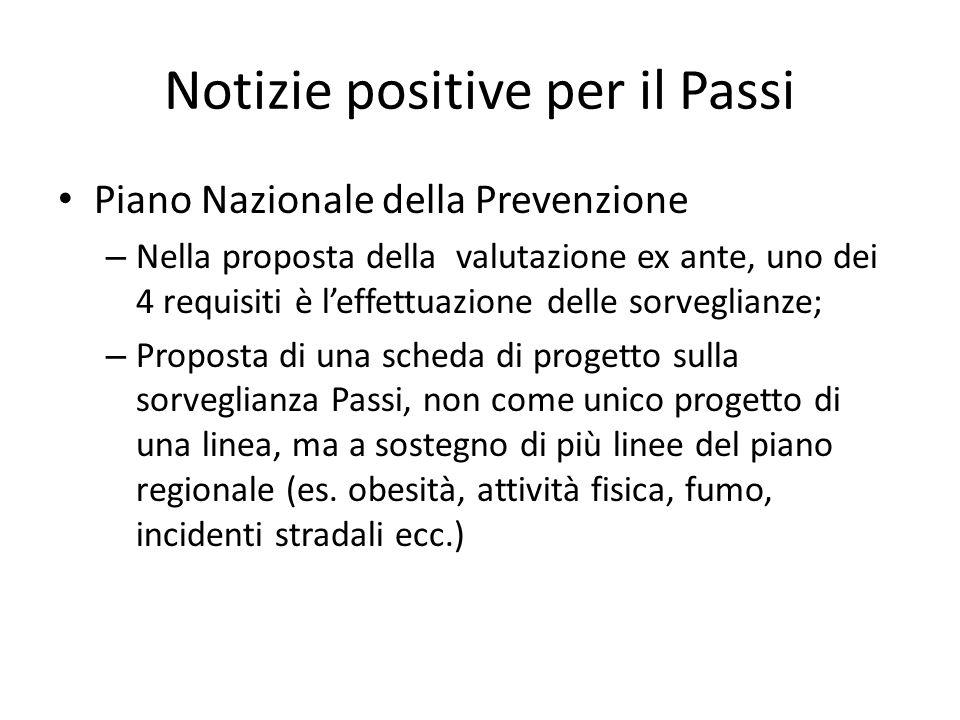 Notizie positive per il Passi Piano Nazionale della Prevenzione – Nella proposta della valutazione ex ante, uno dei 4 requisiti è leffettuazione delle