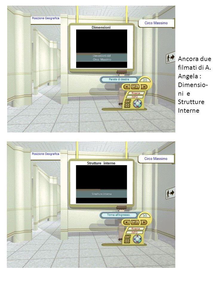 Ancora due filmati di A. Angela : Dimensio- ni e Strutture Interne