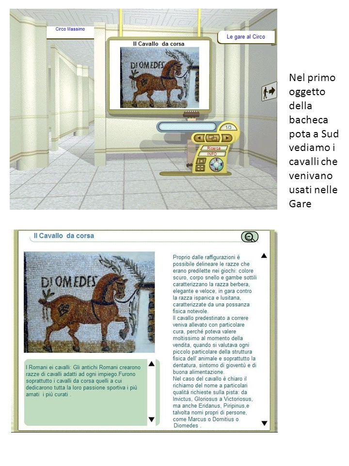 Nel primo oggetto della bacheca pota a Sud vediamo i cavalli che venivano usati nelle Gare