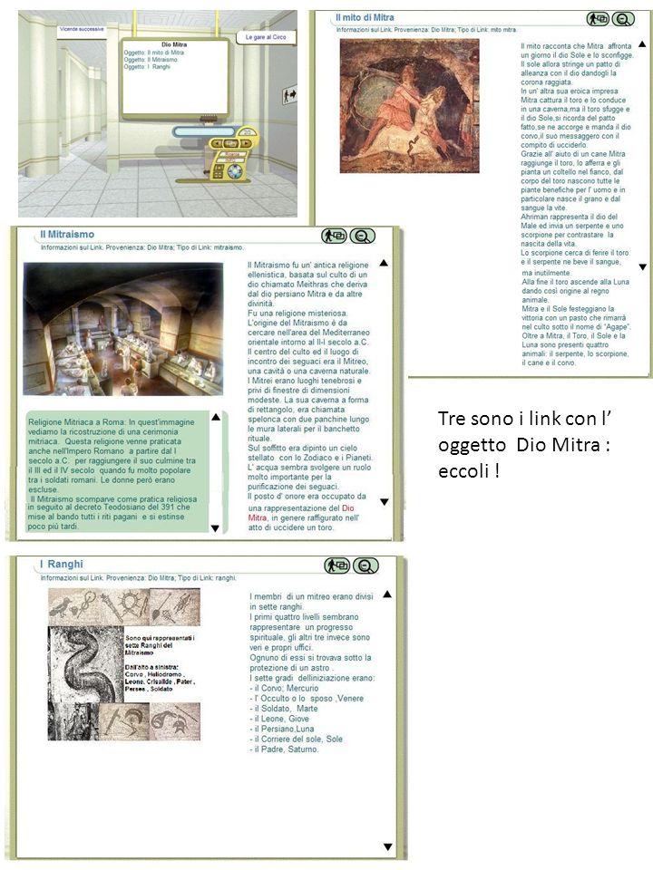 Tre sono i link con l oggetto Dio Mitra : eccoli !