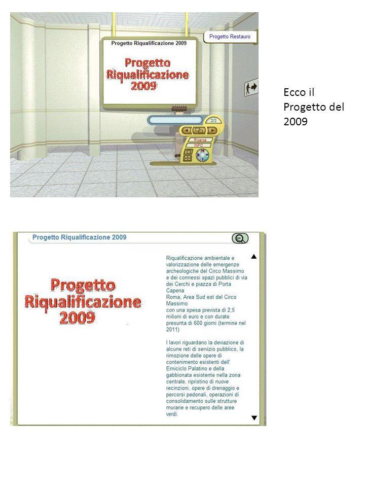 Ecco il Progetto del 2009