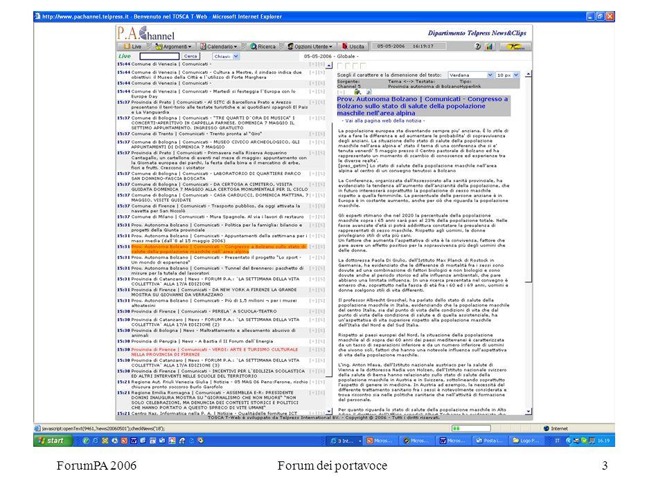 ForumPA 2006Forum dei portavoce3