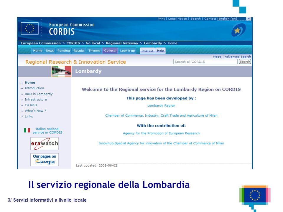 Il servizio regionale della Lombardia 3/ Servizi informativi a livello locale