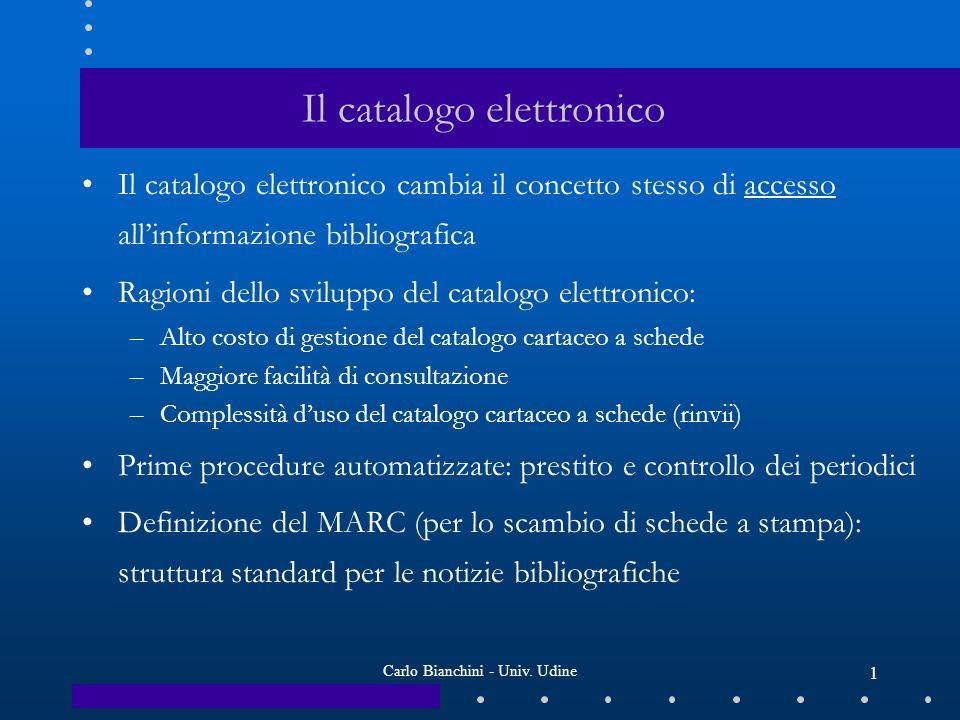 Carlo Bianchini - Univ. Udine 2
