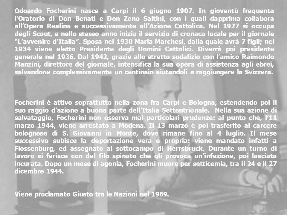 Odoardo Focherini nasce a Carpi il 6 giugno 1907.