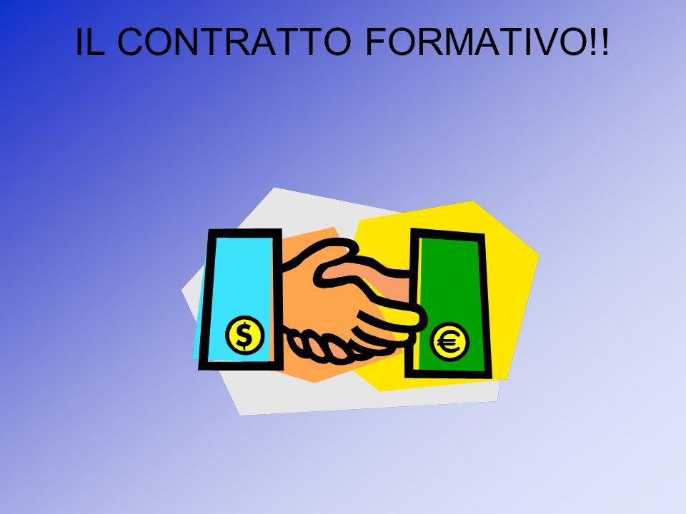 IL CONTRATTO FORMATIVO!!
