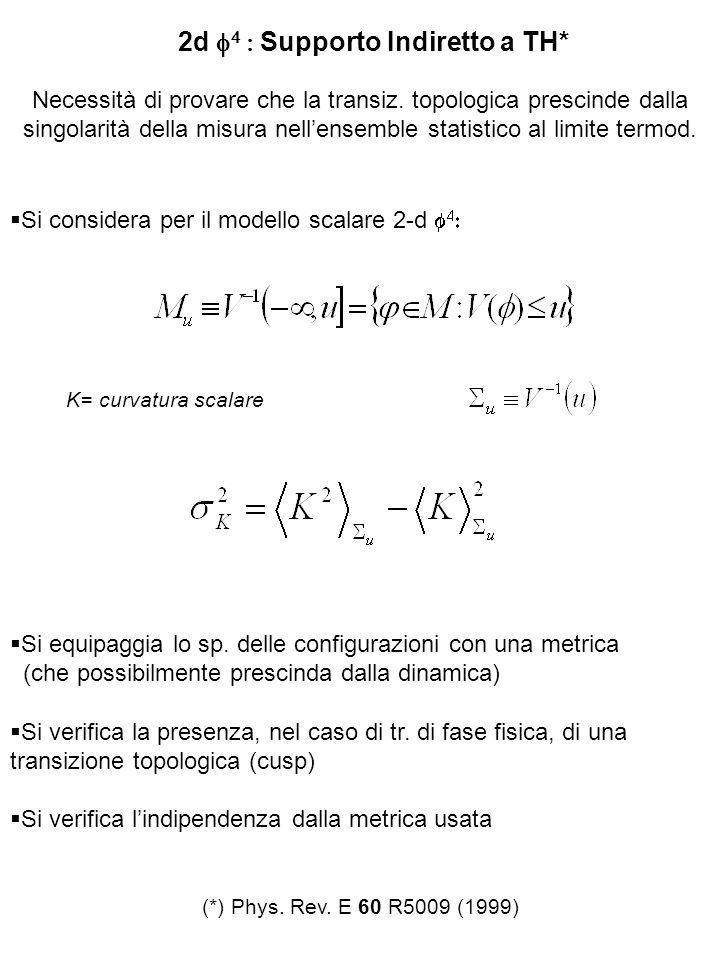 2d Supporto Indiretto a TH* Necessità di provare che la transiz. topologica prescinde dalla singolarità della misura nellensemble statistico al limite