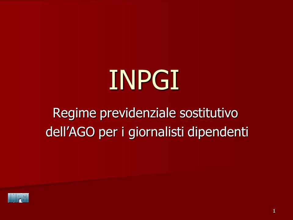 2 Soggetti assicurati Legge n.1564/51: giornalisti professionisti Legge n.