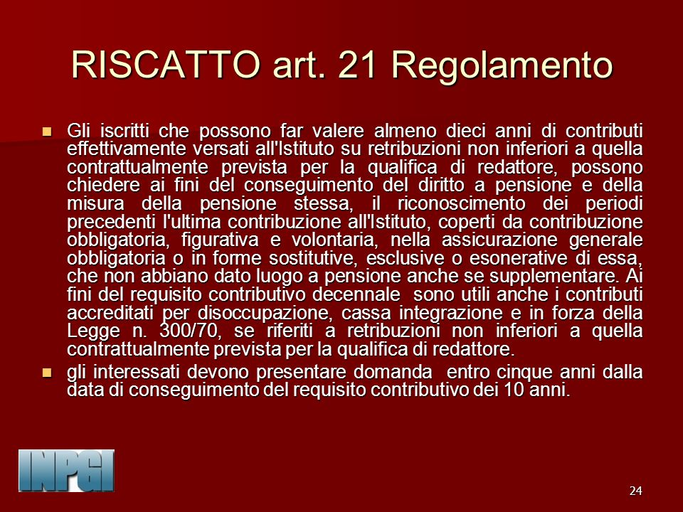 24 RISCATTO art.