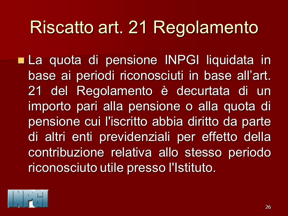 26 Riscatto art.