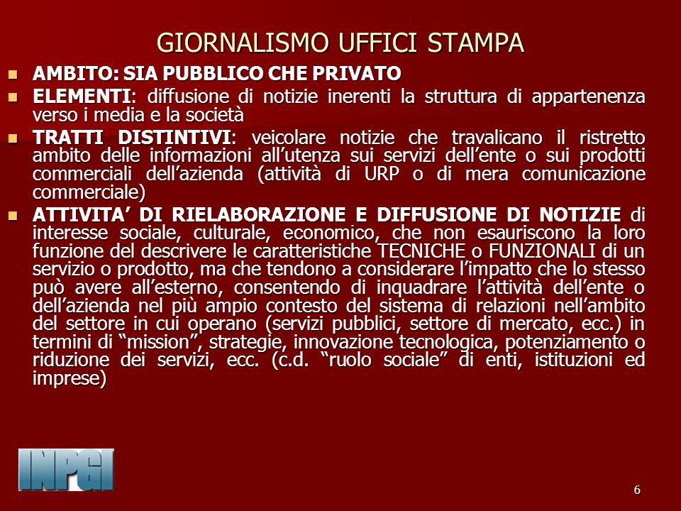 77 NORMATIVA DI RIFERIMENTO IN MATERIA DI CUMULO DEI TRATTAMENTI INPGI La disciplina sul cumulo è contenuta nellart.