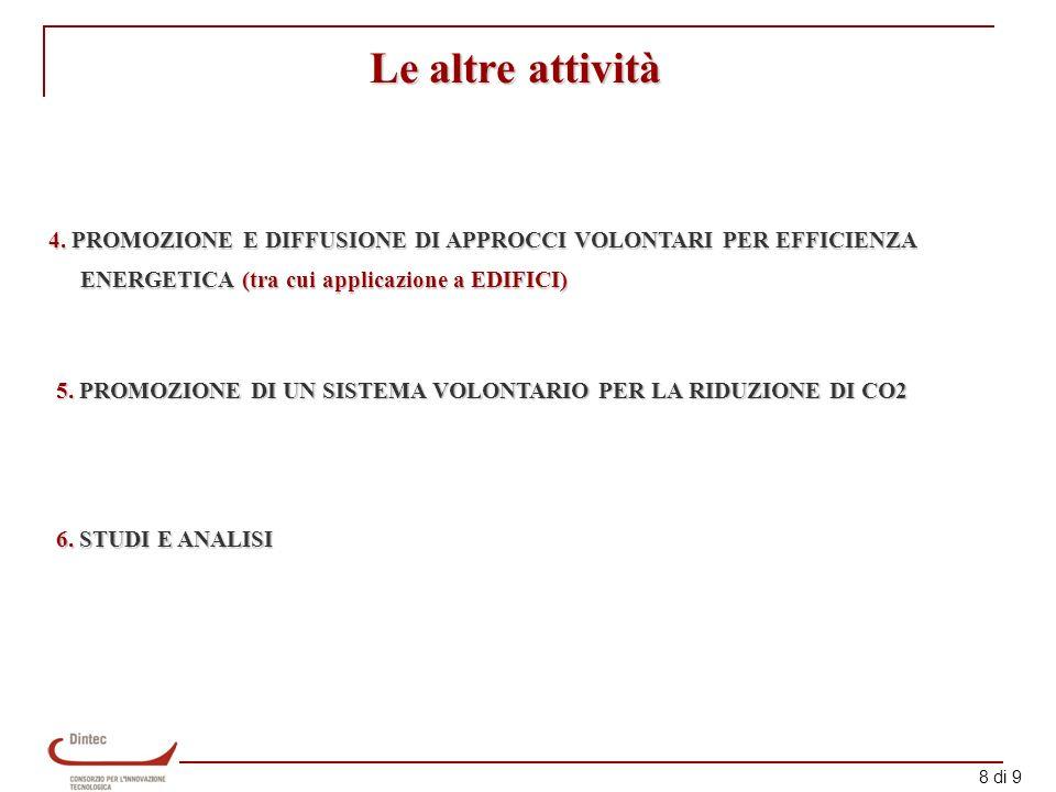 9 di 9 Grazie per lattenzione Dintec Via Boncompagni 16 carbone@dintec.it 06/47822420