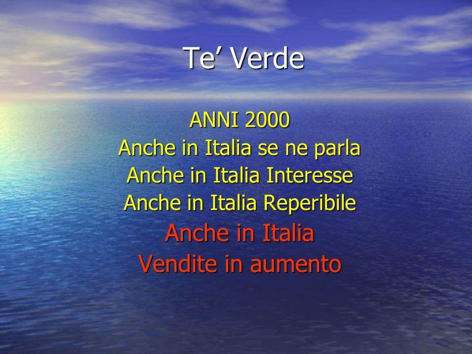 Te Verde ANNI 2000 Anche in Italia se ne parla Anche in Italia Interesse Anche in Italia Reperibile Anche in Italia Vendite in aumento