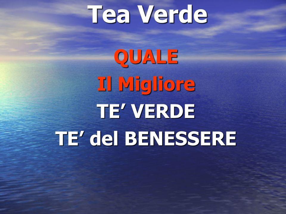 Tea Verde QUALE Il Migliore TE VERDE TE del BENESSERE