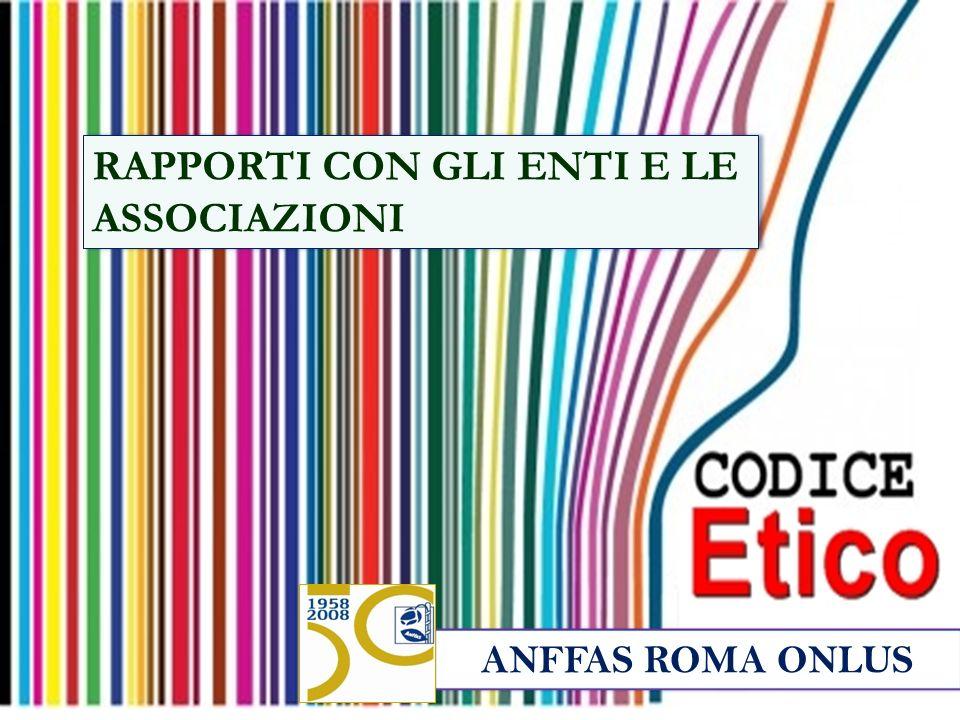 ANFFAS ROMA ONLUS RAPPORTI CON GLI ENTI E LE ASSOCIAZIONI