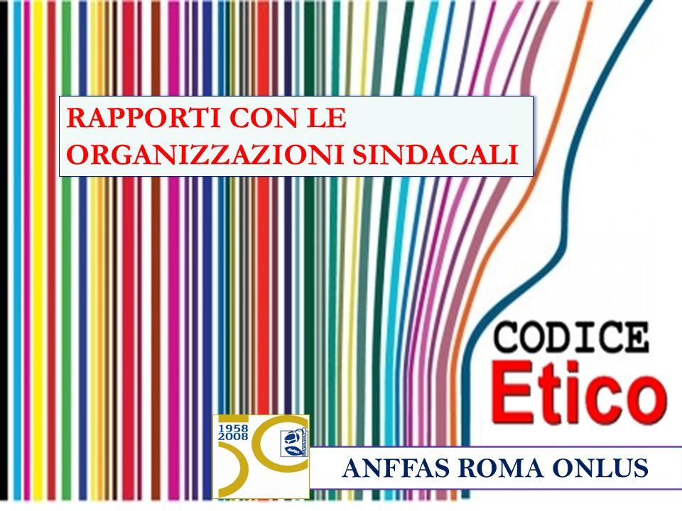 ANFFAS ROMA ONLUS RAPPORTI CON LE ORGANIZZAZIONI SINDACALI