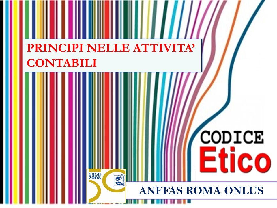 ANFFAS ROMA ONLUS PRINCIPI NELLE ATTIVITA CONTABILI