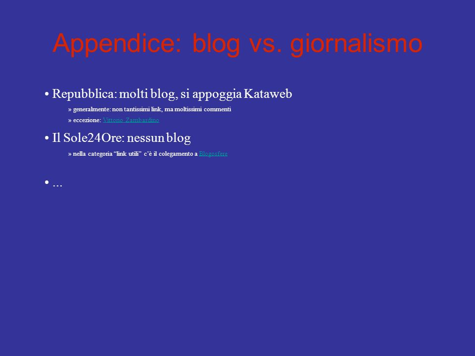 Appendice: blog vs.