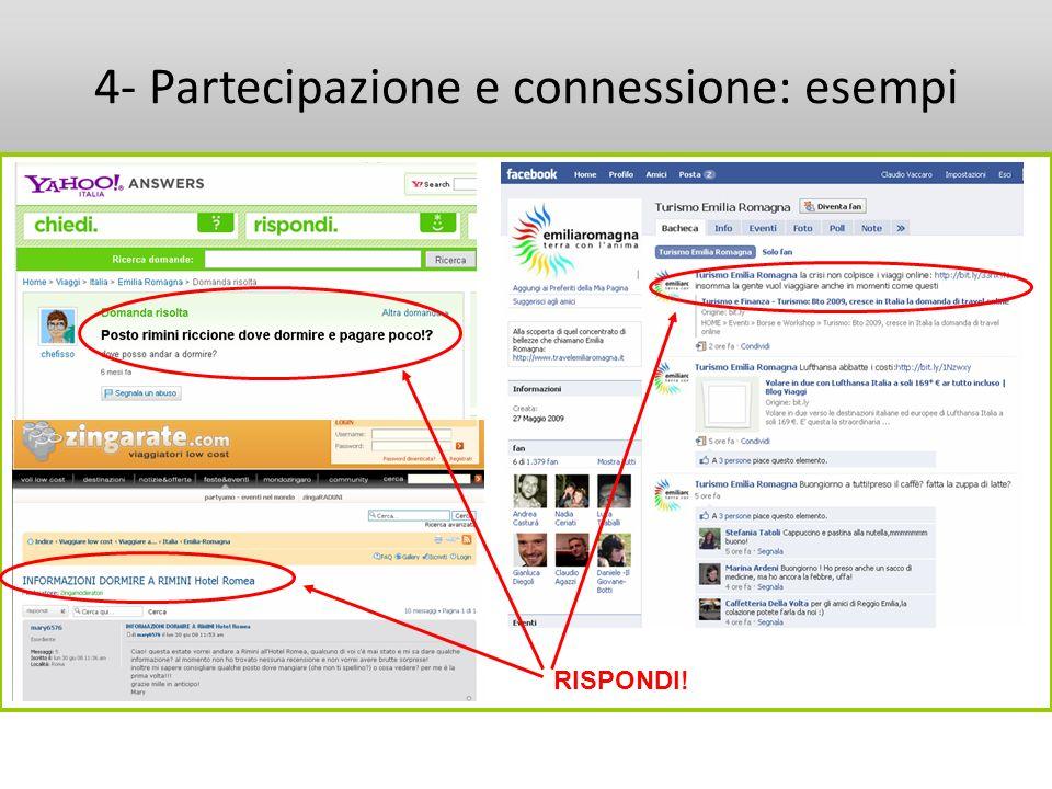 4- Partecipazione e connessione: esempi RISPONDI!