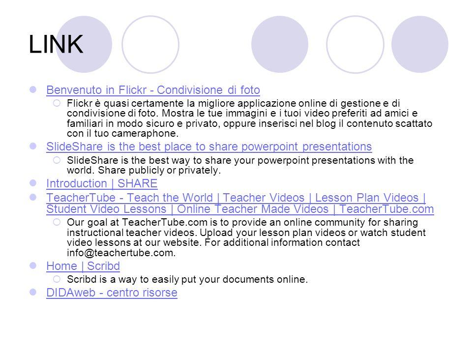 LINK Benvenuto in Flickr - Condivisione di foto Flickr è quasi certamente la migliore applicazione online di gestione e di condivisione di foto. Mostr