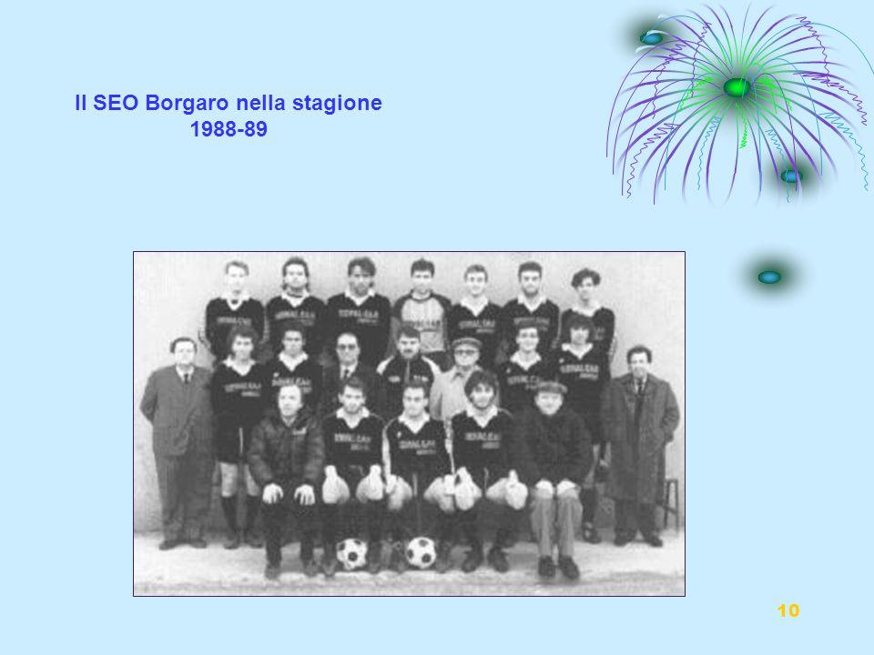 10 Il SEO Borgaro nella stagione 1988-89