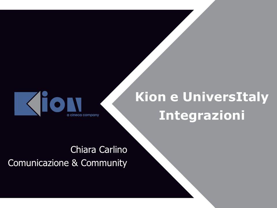 Kion e UniversItaly Integrazioni Chiara Carlino Comunicazione & Community