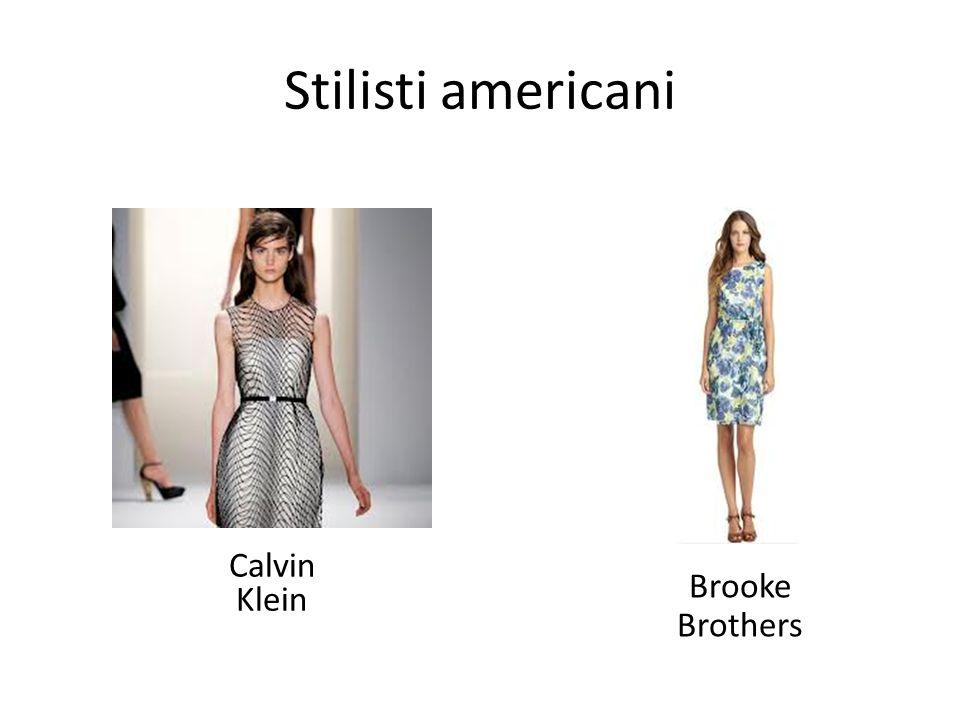 Stilisti americani Calvin Klein Brooke Brothers