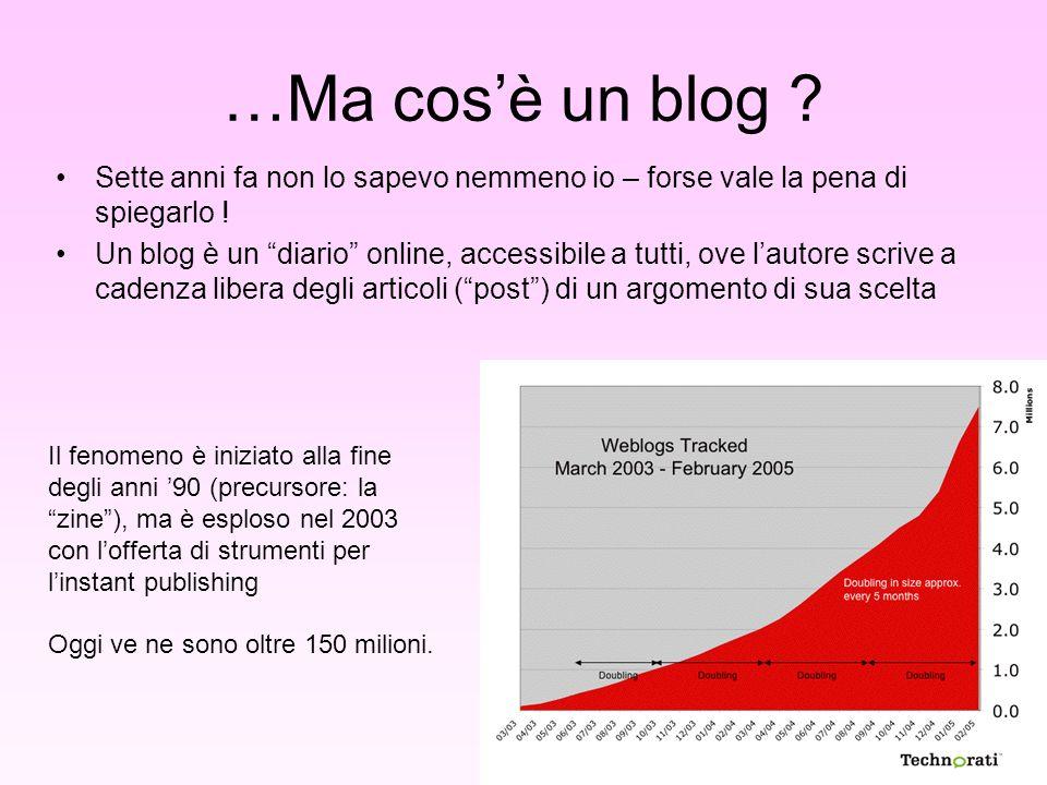 Tipi di blog I blog vengono usati in modi molto diversi da diversi autori.