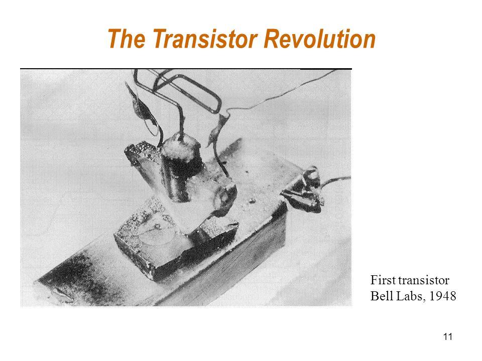 11 The Transistor Revolution First transistor Bell Labs, 1948