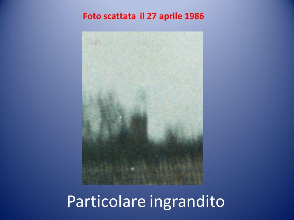 Foto scattata il 27 aprile 1986 Particolare ingrandito