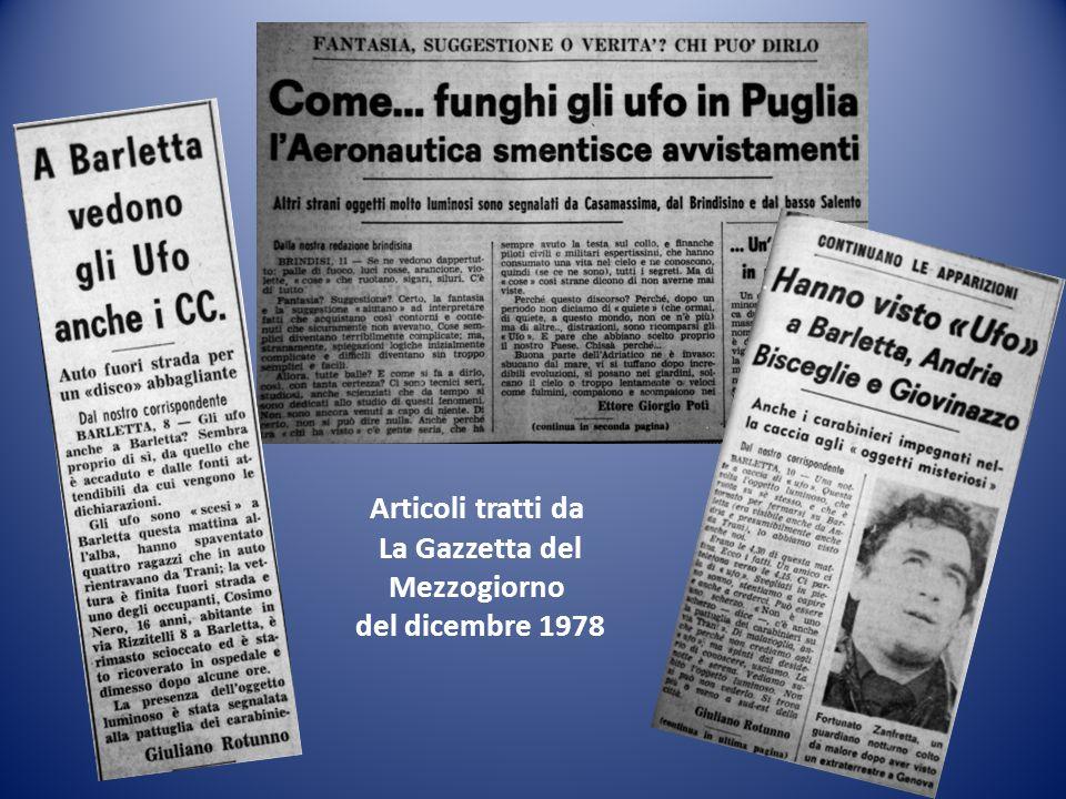 Articoli tratti da La Gazzetta del Mezzogiorno del dicembre 1978
