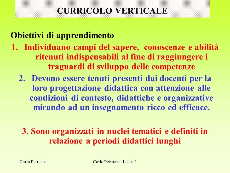 TEMA DISCIPLINE Carlo Petracca - Lecce 1Carlo Petracca